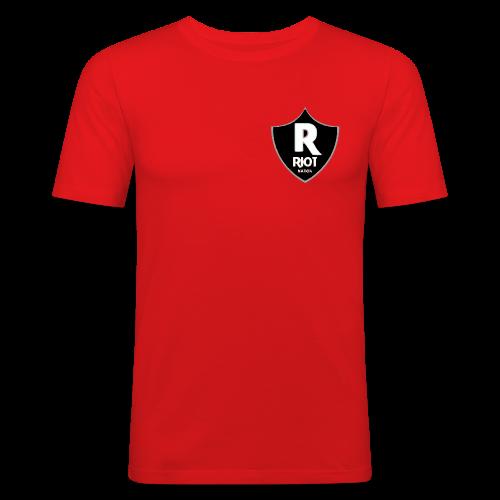 riot Nation logo schwarz - Männer Slim Fit T-Shirt