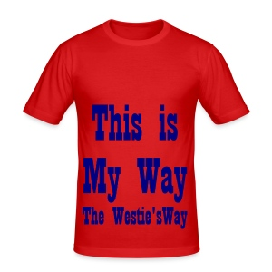 This is My Way Navy - Men's Slim Fit T-Shirt