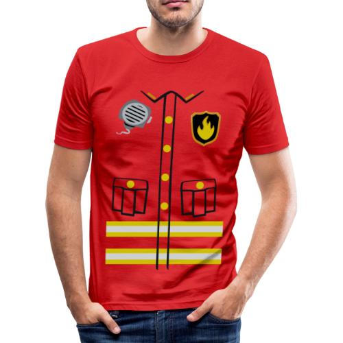 Firefighter Costume - Men's Slim Fit T-Shirt