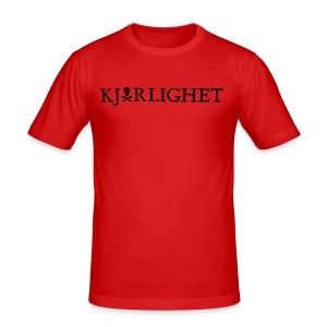 Kjærlighet (Love) | Black Text - Men's Slim Fit T-Shirt