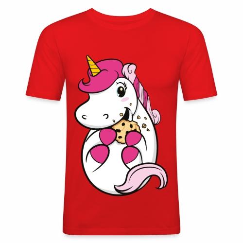 Kekseinhorn - Männer Slim Fit T-Shirt