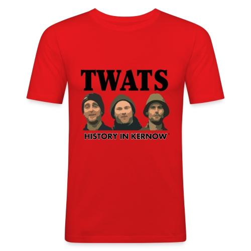 THE CREW TITLE TWATS - Men's Slim Fit T-Shirt