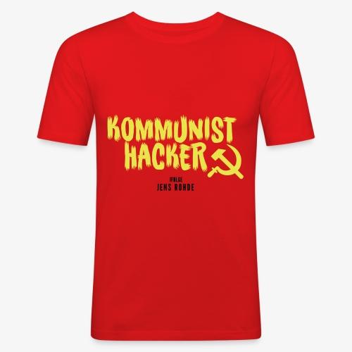 Kommunist Hacker ifølge Jens - Herre Slim Fit T-Shirt