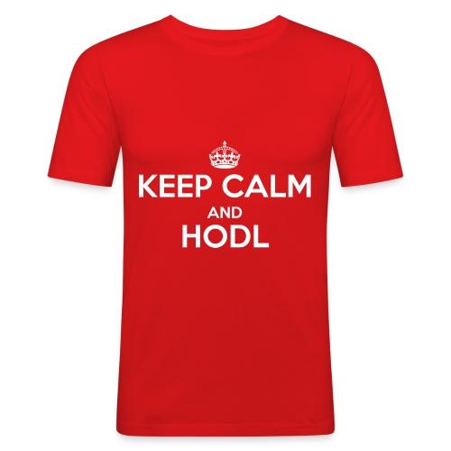 Keep Calm and HODL - Männer Slim Fit T-Shirt