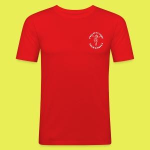 Logo_Prinzengarde_weiss - Männer Slim Fit T-Shirt