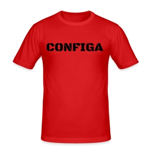 Configa Logo - Men's Slim Fit T-Shirt