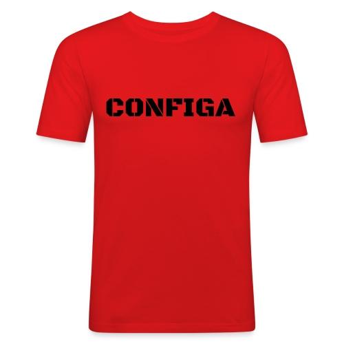 Configa Logo - Men's Slim Fit T-Shirt