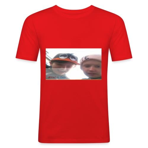 Mikael og Truls - Slim Fit T-skjorte for menn