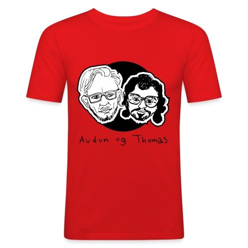Audun og Thomas - Slim Fit T-skjorte for menn