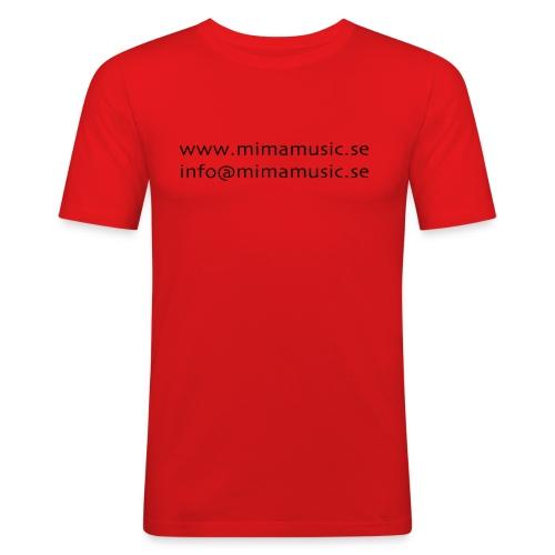 mima music - Slim Fit T-shirt herr
