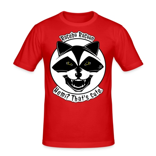 Racebo Racoon - Slim Fit T-shirt herr