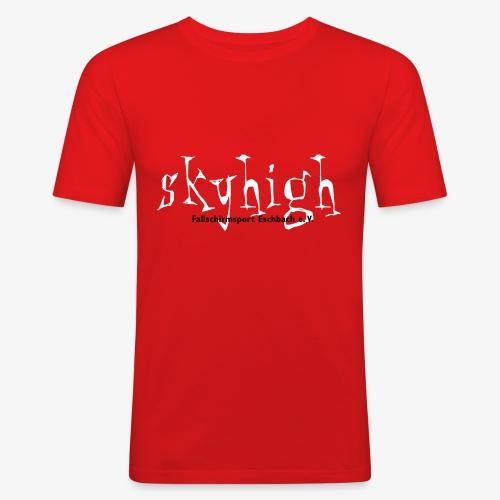 logo weiss - Männer Slim Fit T-Shirt
