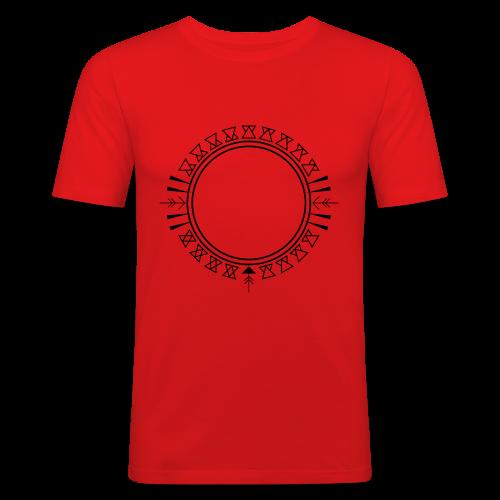 Azteken Dreieck Verzierung - Männer Slim Fit T-Shirt