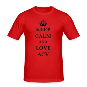 Keep Calm and Love ACV - Männer Slim Fit T-Shirt