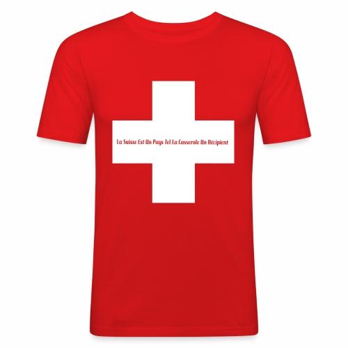 Design Super Suisse - T-shirt près du corps Homme