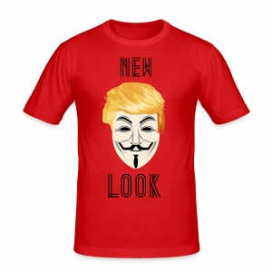New Look Transparent /Anonymous Trump - Maglietta aderente da uomo