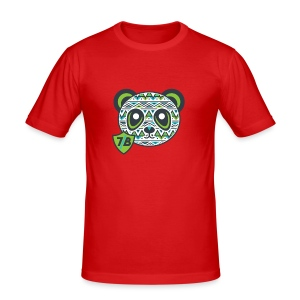 The Young Green Panda - Men's Slim Fit T-Shirt