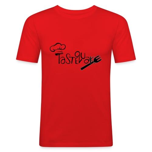 TasteQuake Logo - Männer Slim Fit T-Shirt