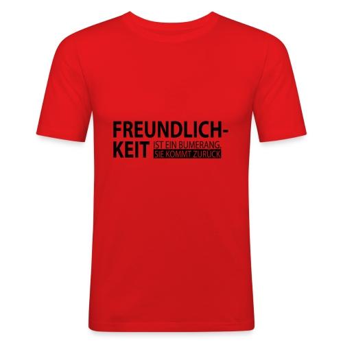 Freundlichkeit - Männer Slim Fit T-Shirt