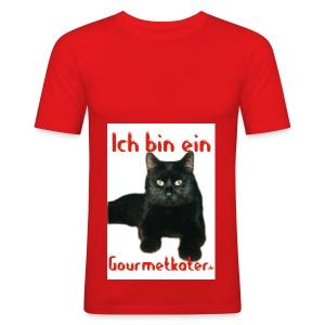 Ich bin ein Gourmetkater - Männer Slim Fit T-Shirt