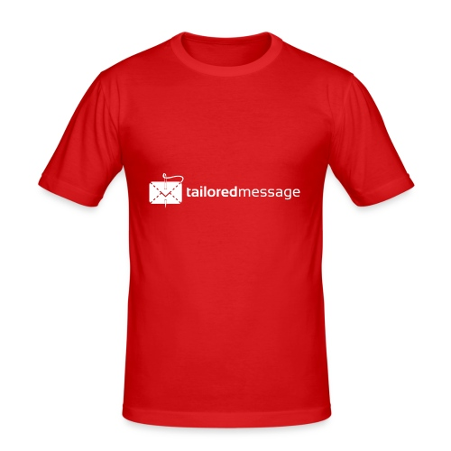Tailored Message Black Tee - Slim Fit T-skjorte for menn