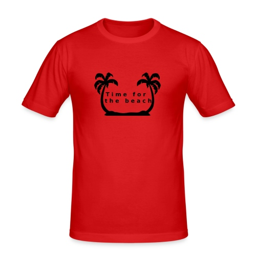 Time for the beach! Palme Geschenk Urlaub - Männer Slim Fit T-Shirt