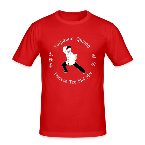 Teo Mei Mei White Logo - Slim Fit T-shirt herr