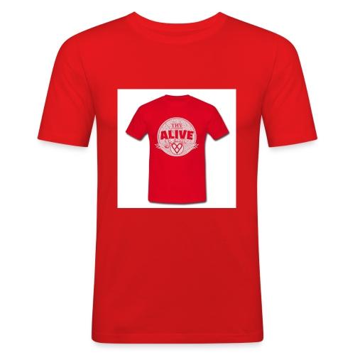 Herre-T-shirt - Herre Slim Fit T-Shirt