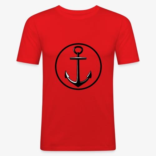 LOGO_anger - Herre Slim Fit T-Shirt