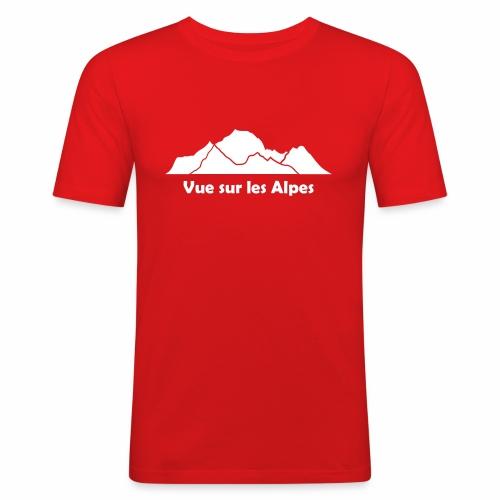Vue sur les Alpes - Tee shirt près du corps Homme