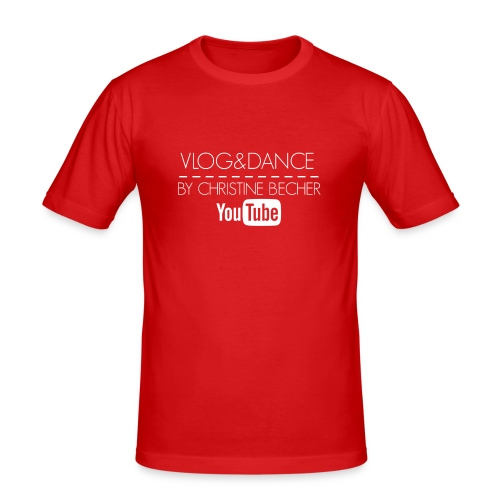 VLOG&DANCE by Christine Becher White - Männer Slim Fit T-Shirt