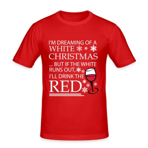 White Christmas - Men's Slim Fit T-Shirt