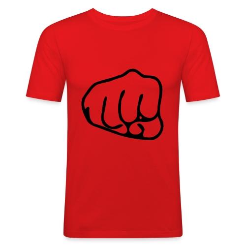Faustschlag - Männer Slim Fit T-Shirt