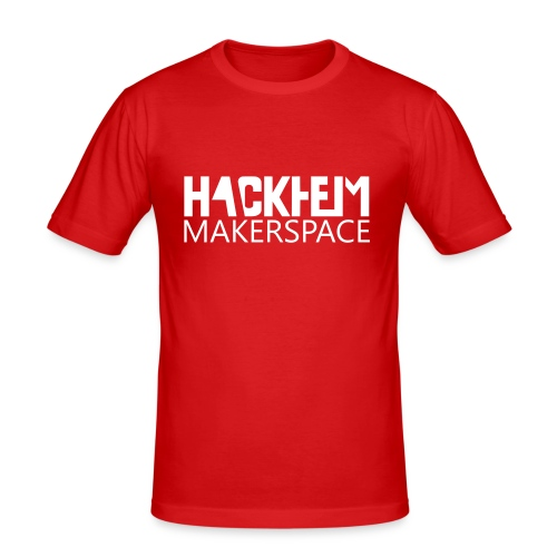 Hackheim Makerspace - Slim Fit T-skjorte for menn