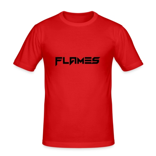 Futuristic Flames Logo - Men's Slim Fit T-Shirt
