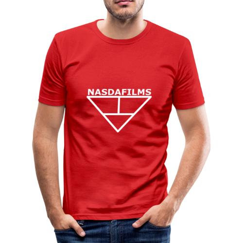 Nasdafilms Hinten - Männer Slim Fit T-Shirt