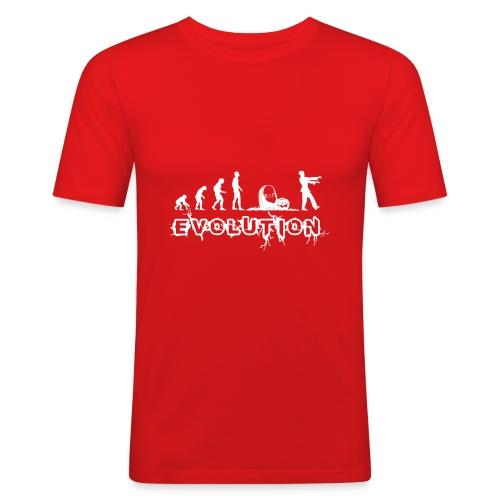 EVOLUTION ZOMBIE - Männer Slim Fit T-Shirt