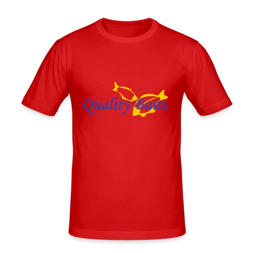 Quality Baits Logo - Men's Slim Fit T-Shirt