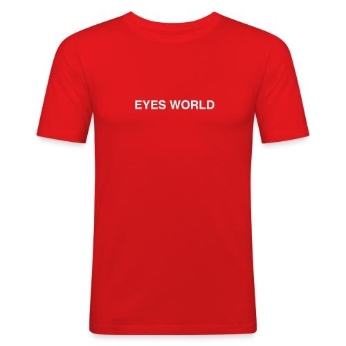 Eyes world original - T-shirt près du corps Homme