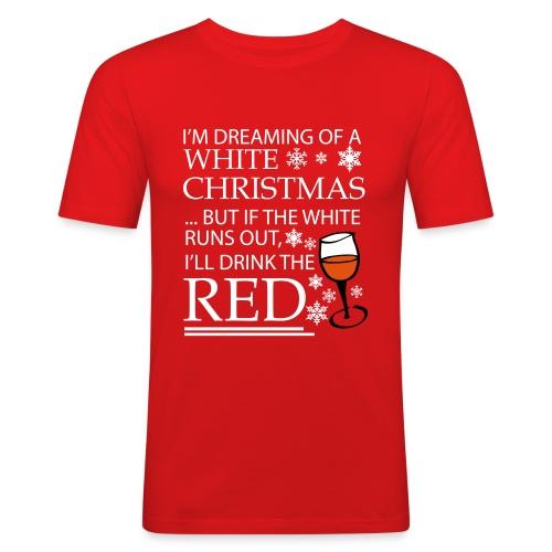 White Christmas - Men's Slim Fit T-Shirt