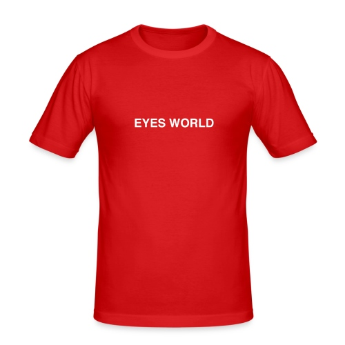 Eyes world original - T-shirt près du corps Homme