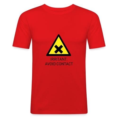 Irritant: Avoid Contact - Men's Slim Fit T-Shirt