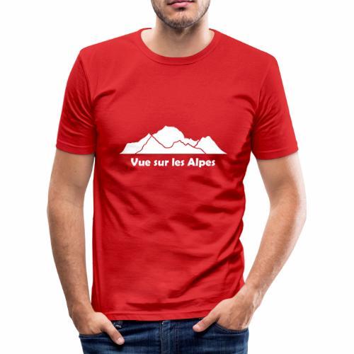 Vue sur les Alpes - T-shirt près du corps Homme