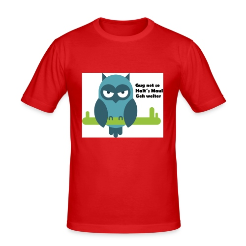 Eule - Männer Slim Fit T-Shirt