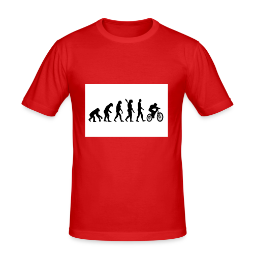 Evolution to Biking - Männer Slim Fit T-Shirt
