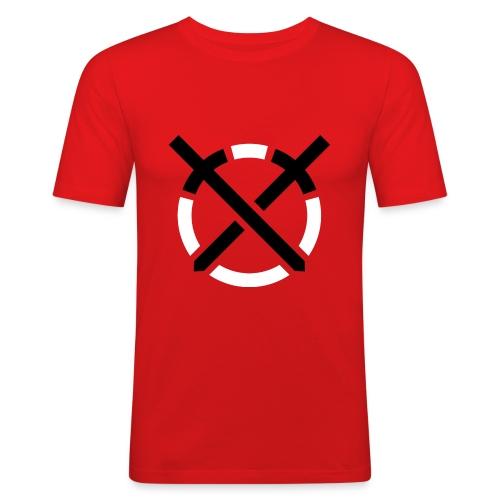 Símbolo «Arte do Combate» sobre amarelo - Camiseta ajustada hombre