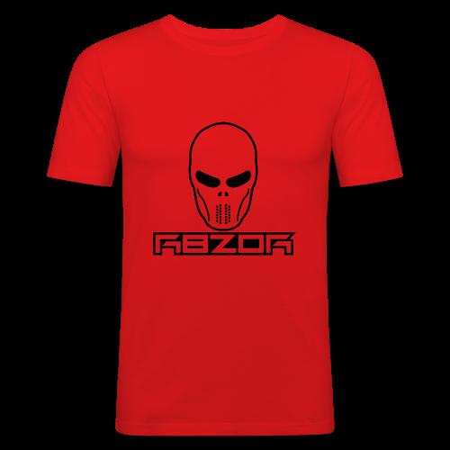 R8ZOR LOGO B/W - Men's Slim Fit T-Shirt
