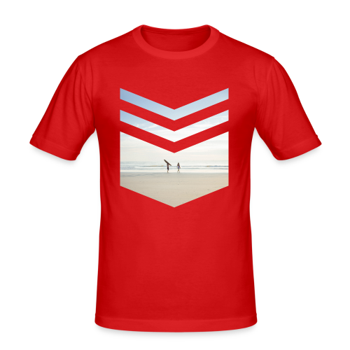 Surf Beach Triangle - Männer Slim Fit T-Shirt
