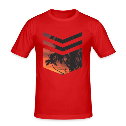 Palm Beach Triangle - Männer Slim Fit T-Shirt