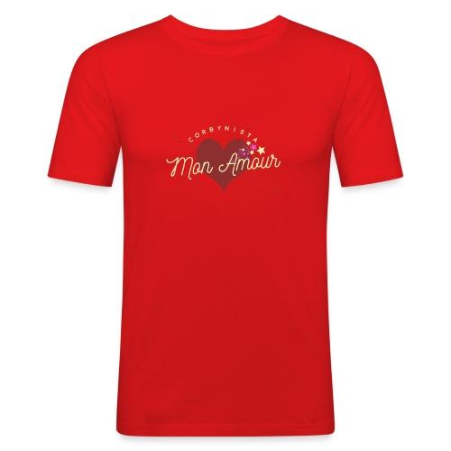 Corbynista Mon Amour - Men's Slim Fit T-Shirt